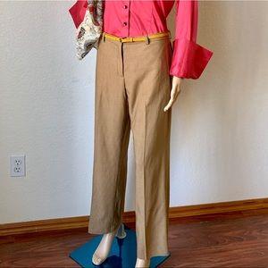 J.Crew wool plaid pants High-rise  wide-leg pant